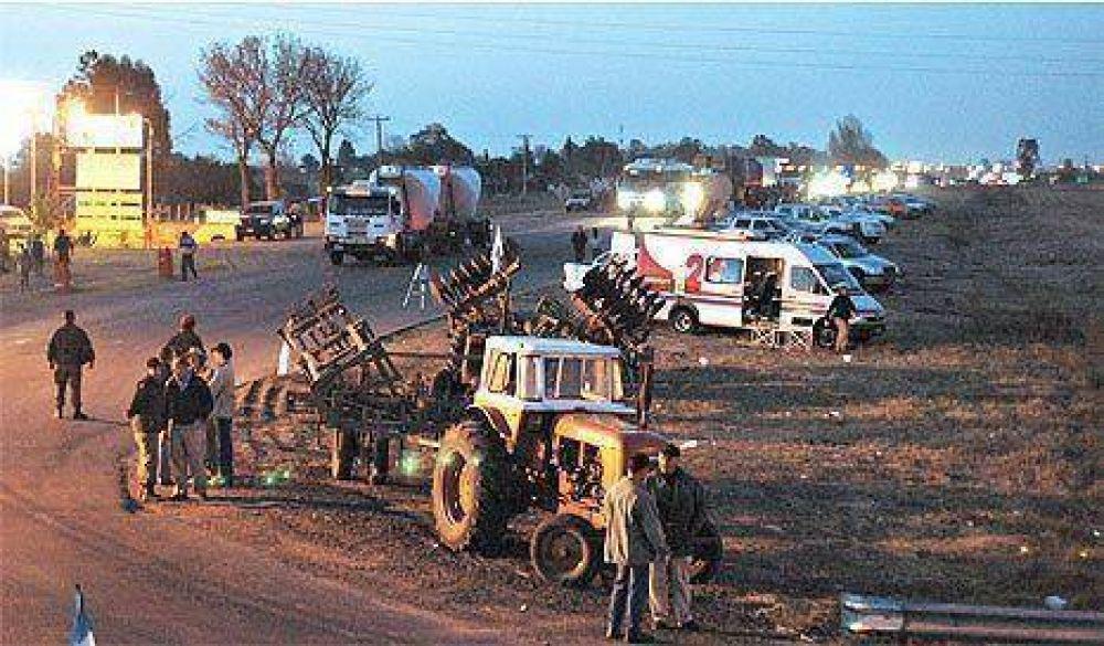 Se inició por ocho días el cese de comercialización de granos y ganado