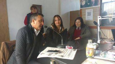 Cristian Azcona y Mercedes Morro recorrieron la ciudad de Madariaga