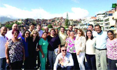 Liliana Denot junto a Diputados de Cambiemos visitaron Venezuela