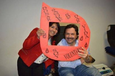 Gustavo Sáenz se sumó a la campaña por la donación de sangre