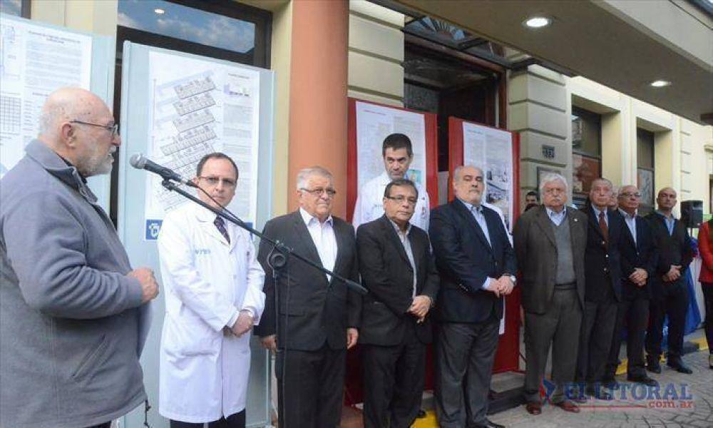 En el brindis del Cardiológico, Colombi anunció una inversión de $60 millones para el instituto