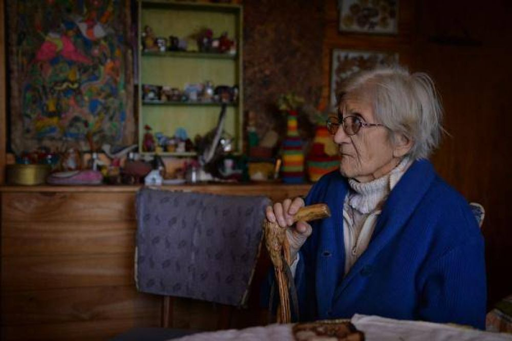 La abuelita Carolina tiene aguante