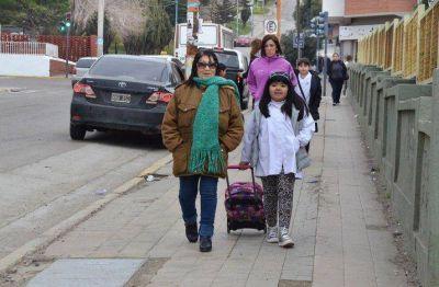 Con baja adhesión al paro docente, se reinició el ciclo lectivo en Chubut