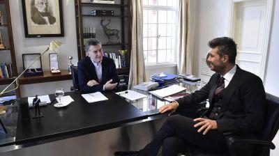 Mauricio Macri est� reunido con Marcelo Tinelli en Olivos