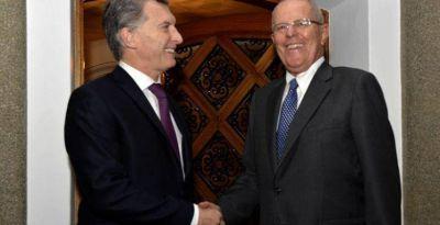 Mauricio Macri particip� de la asunci�n del presidente de Per�