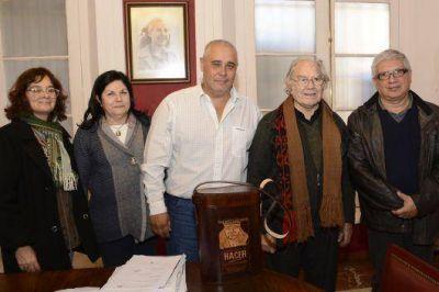 Fabi�n R�os recibi� la visita del Premio Nobel de la Paz, Adolfo P�rez Esquivel