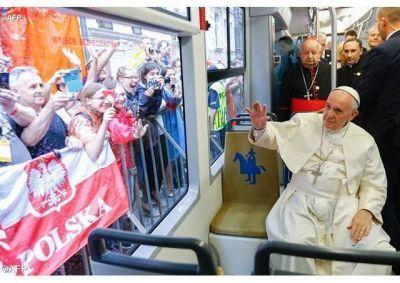 El Papa Francisco recibe las llaves de la ciudad de Cracovia