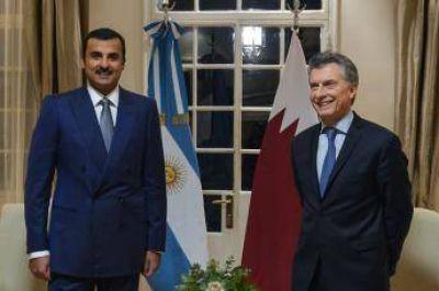 El presidente argentino recibió al Emir de Qatar y acordaron dinamizar la relación bilateral