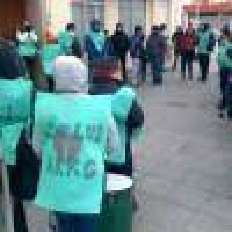 Trabajadores de la sanidad se movilizaron a Economía