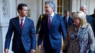 Macri y Pe�a Nieto hablaron de ir a un acuerdo de libre comercio