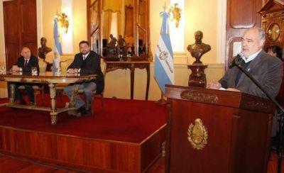 La provincia firmó convenio con Nación para Obras Hídricas