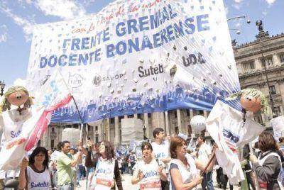 El Frente Gremial se moviliza y advierte sobre huelga