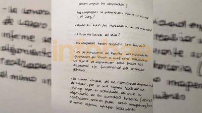 Revelan una carta atribuida a Cristina Elisabet Kirchner que le enviaron a Lázaro Báez