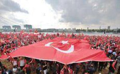 Una demostración de fuerza de Erdogan
