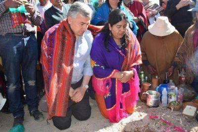 Morales pidi� uni�n, paz y trabajo a la Pachamama