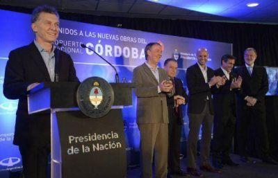 El presidente Macri inauguró obras en el Aeropuerto Córdoba