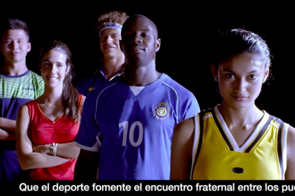 El 'vídeo del Papa' pide que el deporte construya una cultura de encuentro