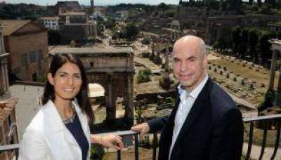 La gira italiana de Larreta, con el Papa y la Alcaldesa de Roma