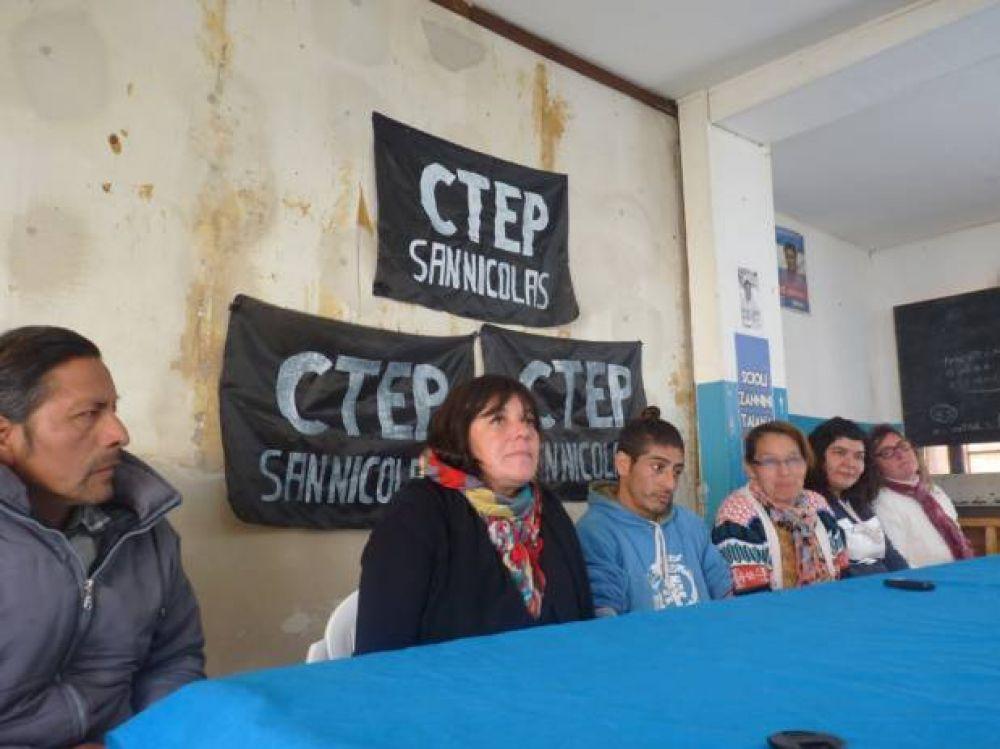 """La CTEP local se moviliza por """"paz, pan y trabajo"""" a Plaza de Mayo"""