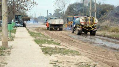 Amplio operativo de limpieza en barrios bandeños