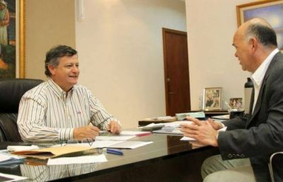 Peppo y Leiva acordaron más obras para San Martín