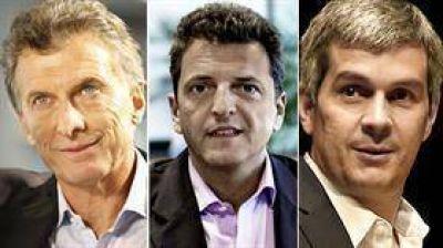 Massa, con Macri y Pe�a en la Rosada