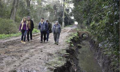 La Comuna realiza obras hidráulicas en la localidad de Villa Astolfi