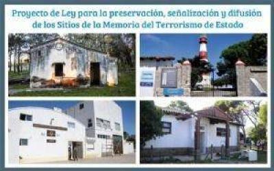 Proponen preservar y se�alizar los Sitios de la Memoria en la Provincia