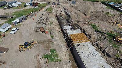 Arroyo del Barco: OSSE avanza con la obra de desag�es pluviales