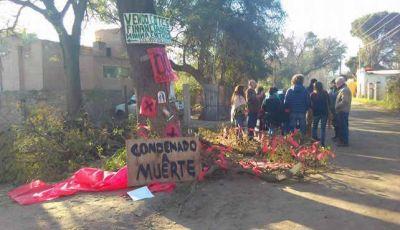 Vecinos de Santa Rosa se manifiestan para evitar la tala de árboles