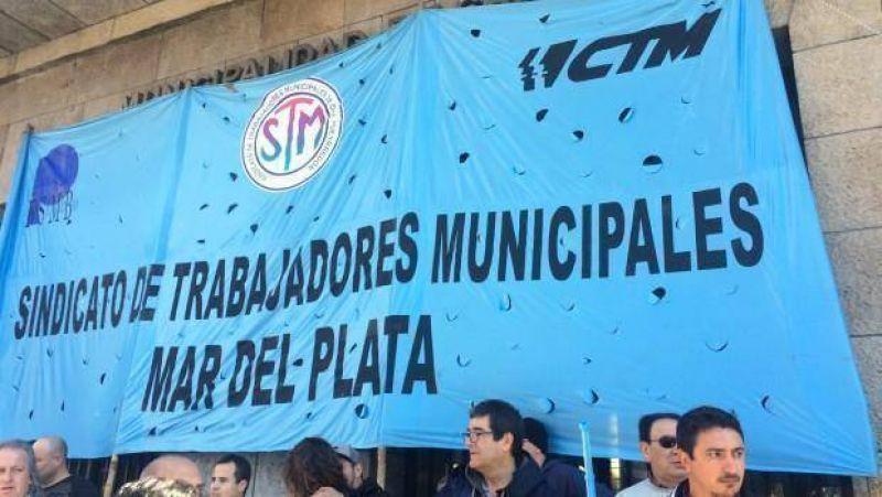 Municipales realizan un paro general de actividades