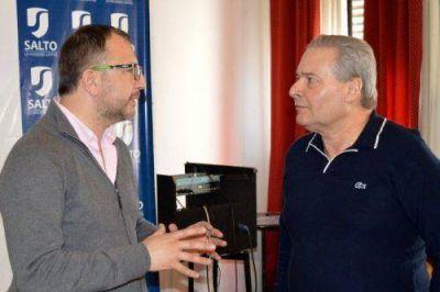 Alessandro agradeció la visita de Perechodnik a Salto