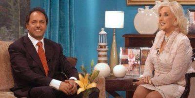 Scioli llam� a Mirtha para defenderse: �Lo de los 20 mil millones es una f�bula�