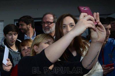 Por primera vez como gobernadora, Vidal estuvo en Olavarría