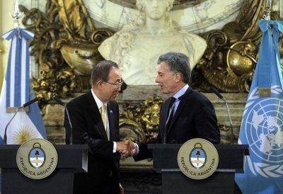 Ban Ki-moon agradeció a Macri por los refugiados sirios y elogió a Malcorra