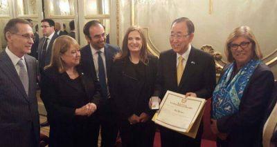 En la Legislatura porte�a, Ban Ki-moon fue declarado visitante ilustre de la Ciudad