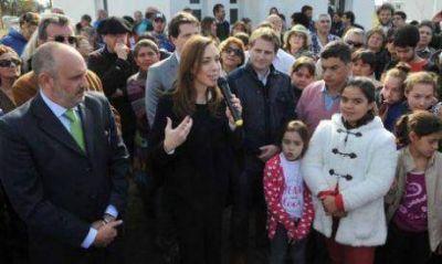 Duro Jorge Fern�ndez con la gesti�n de Mar�a Eugenia Vidal, que visit� Lincoln