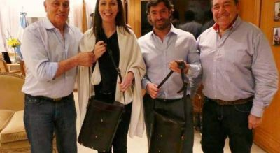 """Con la quinta sección como eje, Vidal recibió al """"momo"""" Venegas y representantes del partido FE"""