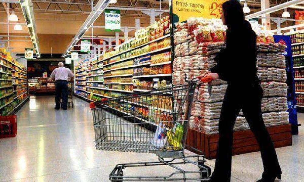 Las ventas en los súper crecieron 3,3% en julio, según el Indec