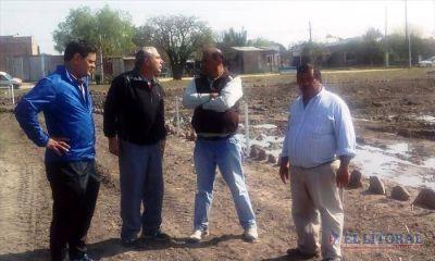 Goya: ejecutan mejoras hídricas y lumínicas en Laguna Bosco