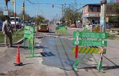 El municipio de Resistencia intensifica trabajos de bacheo