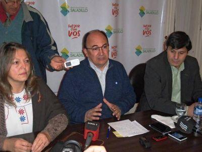 Salomón viajó a La Plata y gestionó nuevas obras de Hidráulica