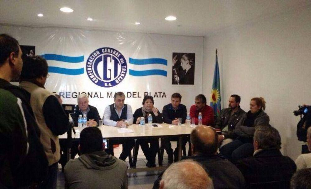 Hugo Moyano confirmó a Sergio Medina al frente de la CGT local