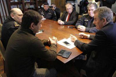 Nueva reunión del intendente con los jefes policiales