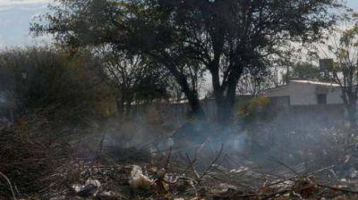 Advierten sobre el peligro de la quema de basura y los pastizales en la ruta