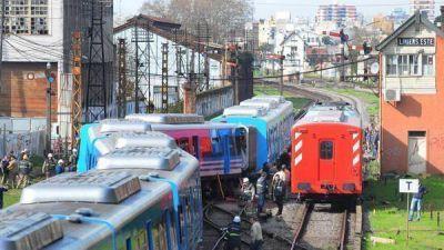 Otro susto en el Sarmiento: descarriló un tren en Liniers