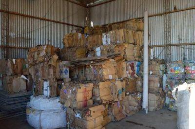 Se realizó el remate del material reciclado en la planta