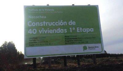 Comenzó la construcción de 40 viviendas en Necochea