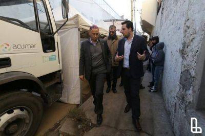 El ministro Bergman recorrio el barrio Pampa de Lanús