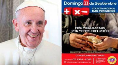 Papa Francisco anima a argentinos a participar en colecta Más por Menos